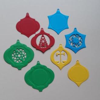 Вырубка для скрапбукинга набор Новогодние шары, декор для скрапбукинга