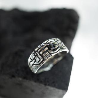 """Серебряное мужское кольцо с Ониксом """"BLACK UNION"""""""