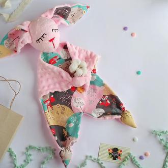 игрушка Сплюшка розовая с лисятами