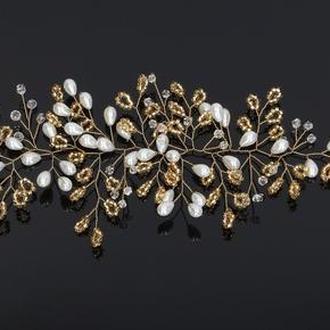 Веточка для волос Tivoli Gardens 25 см золотистый цвет (W-6-1)
