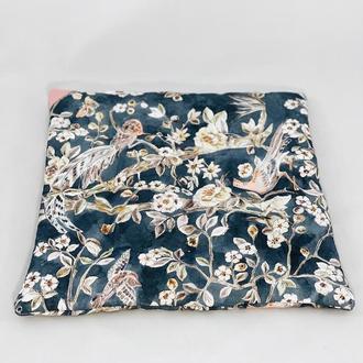 Подушка для сидения с цветами. Мягкое сиденье.