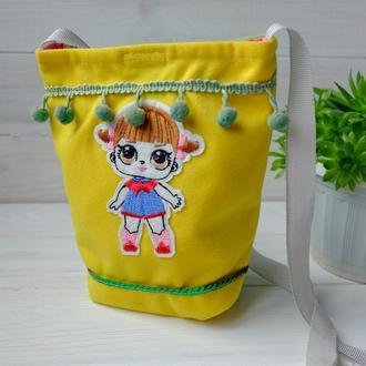 Детская маленькая сумочка с куклой Лол 01// Дитяча маленька сумочка з лялькою Лол 01