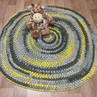Детский прикроватный коврик, круглый мягкий ковер с шишечками для ребенка, диаметр 85 см