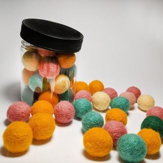 Шерстяные шарики для творчества (10шт.)