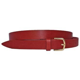 Classica20r9 женский кожаный красный узкий ремень пояс натуральная кожа кожанный