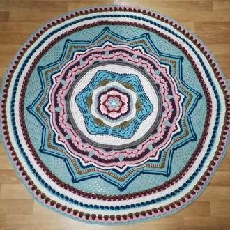Ковер ручной работы для медитаций Восходящая звезда, круглый вязаный ковер, диаметр 1,5 метра