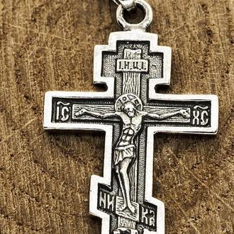 Арт 325 Распятие Христово крест православный Серебро 925