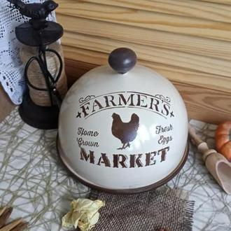 "Хлебница-клош (сырница) ""Farmers market"""