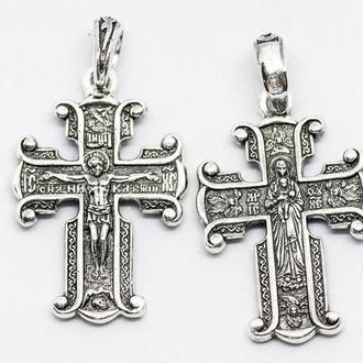 Распятие Христово крест православный Серебро 925  Арт 9