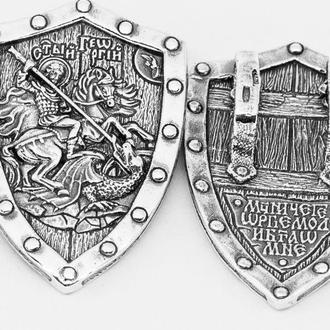 Ладанка серебряная Великомученик Георгий Победоносец. РП284