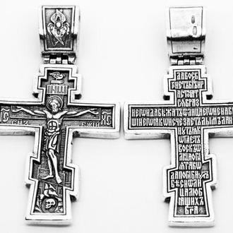Серебряный крест с Распятием. Распятие Христово. Православный Крест Арт 265