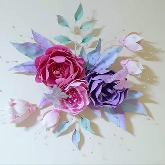 3D картина из цветов