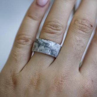 Кольцо из эпоксидной смолы, Мраморное кольцо, Из эпоксидной смолы, Стильное мраморное украшение