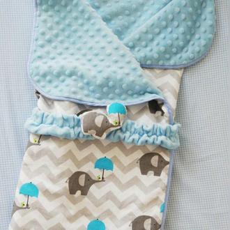 Легкое одеяло-конверт Little Elefants