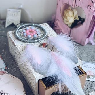 Нежно розовый ловец снов для девочки