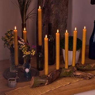 8 натуральних свечей из вощины.Подарочные ЕКО набор свечей для дома и декора