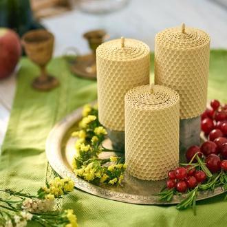 Натуральні гіпоалергенні свічки з вощини для створення затишку дому. Крутий та корисний еко подарок
