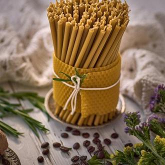 Подарочный набор церковных свечей из пчелиного воска. (100 шт) для декорирования дома и праздников