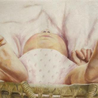 Картина маслом 30х40 Немовля