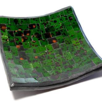 Блюдо мозаичное зеленое