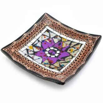 Блюдо мозаичное Цветок