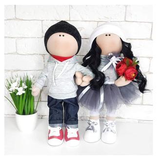 Романтичная пара куклы на годовщину