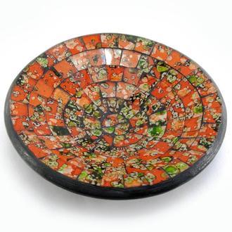 Блюдо мозаичное терракотовое