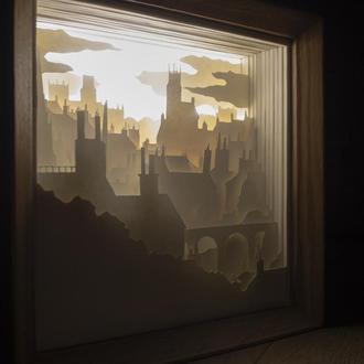 Лампа - Ночник из вытынанки