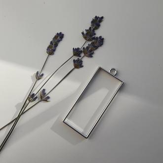 Фурнитура серебряного цвета для эпоксидной смолы.