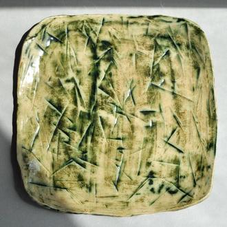 Тарелка керамическая, плоская, для закусок, сыра и т.п.