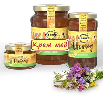"""Крем-мед из разнотравья ТМ """"MARBEE"""", урожай лето 2020, 400 г"""