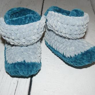 Пинетки-ботиночки на малыша 6 - 9 месяцев