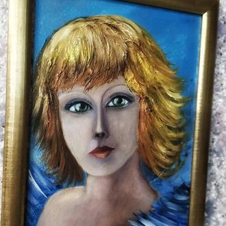ангел, картина, размер 20х30см