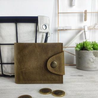 Кожаный кошелек с гравировкой | подарок мужу на день рождения | БЕСПЛАТНАЯ ГРАВИРОВКА | Kozhemyaka❤