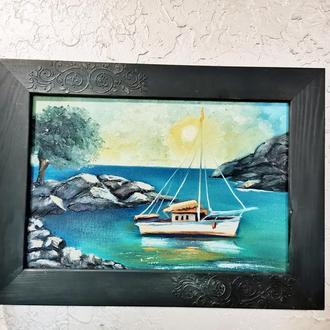 Морское путешествие, живопись, размер 20х30