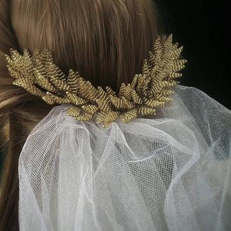 Веточка в причёску, свадебное украшение, аксессуар для волос