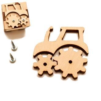 Заготовка для Бизикубика Трактор с Шестеренками 4,5 см дерев'яні шестерінки для бізікубіка \