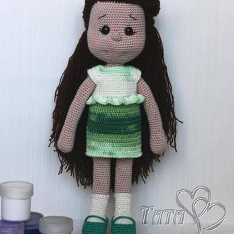 Кукла  вязаная крючком Куколка  Интерьерная / игровая игрушка Амигуруми Подарок девочке