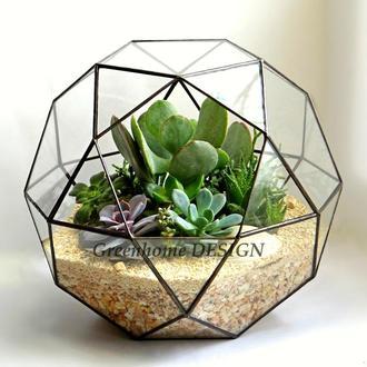 """Флорариум """"Глобус"""" (диаметр 30 см)-эффектный и оригинальный подарок!"""