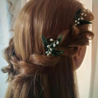Цветочные шпильки, шпильки в причёску