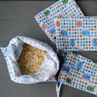 Эко мешочек, эко торбочка, мешочек для хранения, для продуктов, мішечок з бавовни zero weste