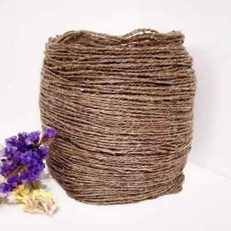 Пряжа з вовни Nordika Wool коричневий льон 008