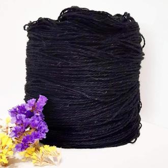 Пряжа з вовни Nordika Wool чорна 011