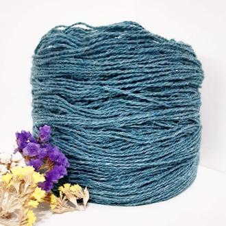 Пряжа з вовни Nordika Wool бірюзова 018