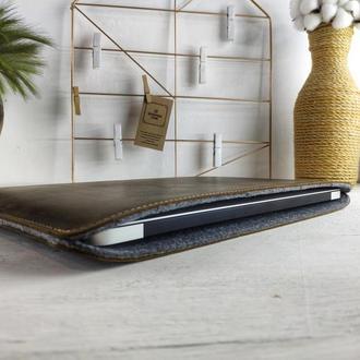 Кожаный чехол для MacBook | БЕСПЛАТНАЯ ГРАВИРОВКА | Kozhemyaka ❤