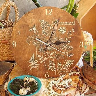 настенные часы в эко стиле