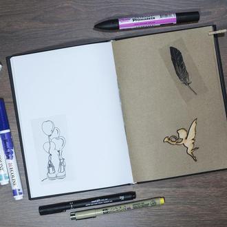 Скетчбук для рисунка, белая+крафт+черная бумага, 70л., ArtBook mix, Alizarin