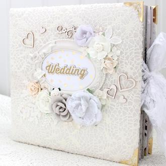 Большой свадебный фотоальбом скрапбукинг , свадебный альбом , подарок на свадьбу или годовщину