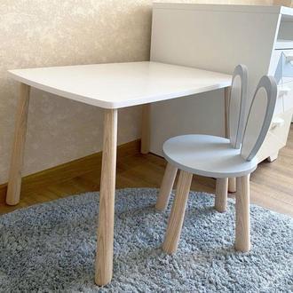 Комплект мебели. Детский стол стул .Детская мебель. Зайчик