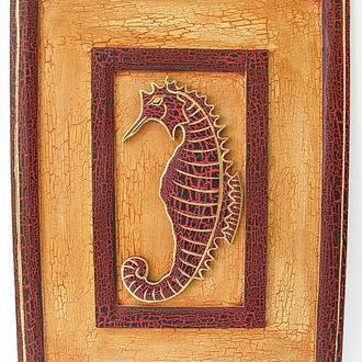 Картина деревянная Моской конек